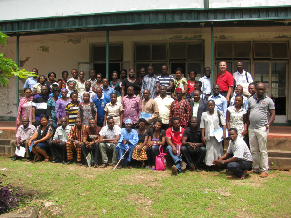 Participants in Ogola training, (Allyn in red in upper right).