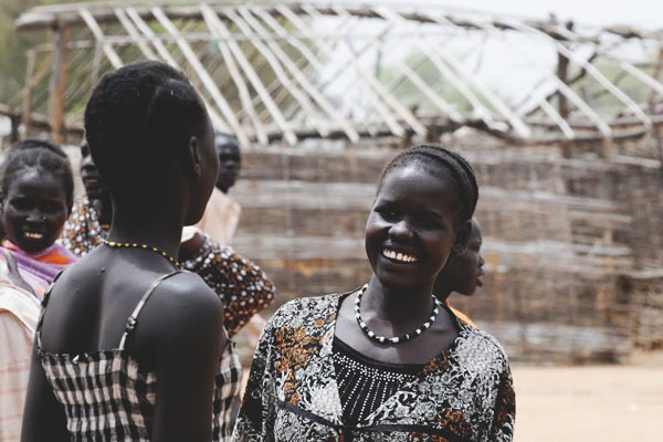 South Sudanese women talking