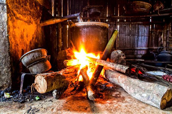 pot on open fire