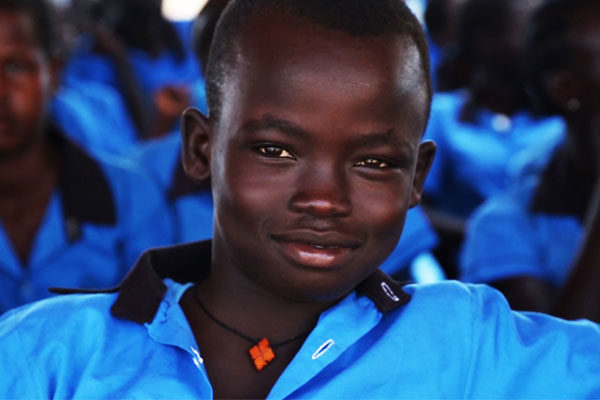 South Sudanese school boy