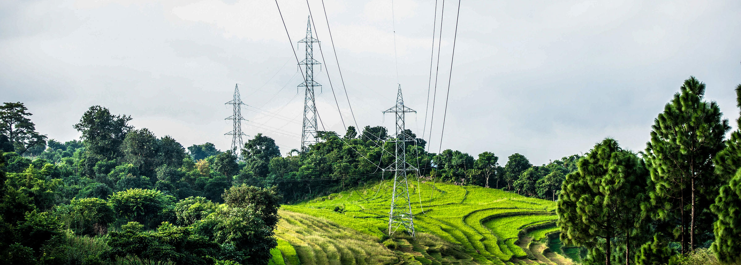 Power lines in Nepal