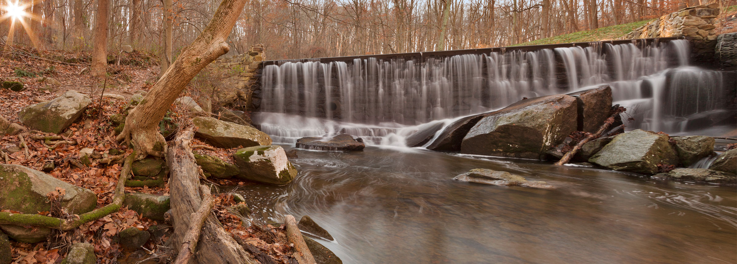 Chesapeake Bay waterfall