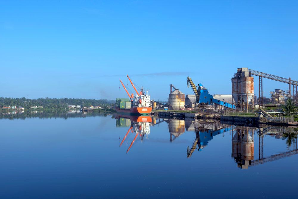 Guyana harbor