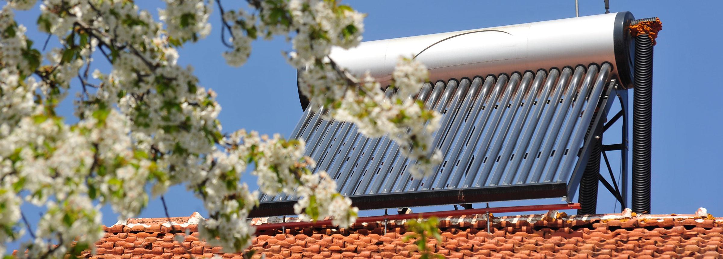 Solar panel atop Macedonian house