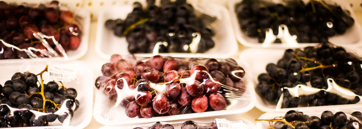 Packaged grapes