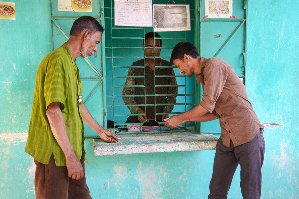 Men at counter