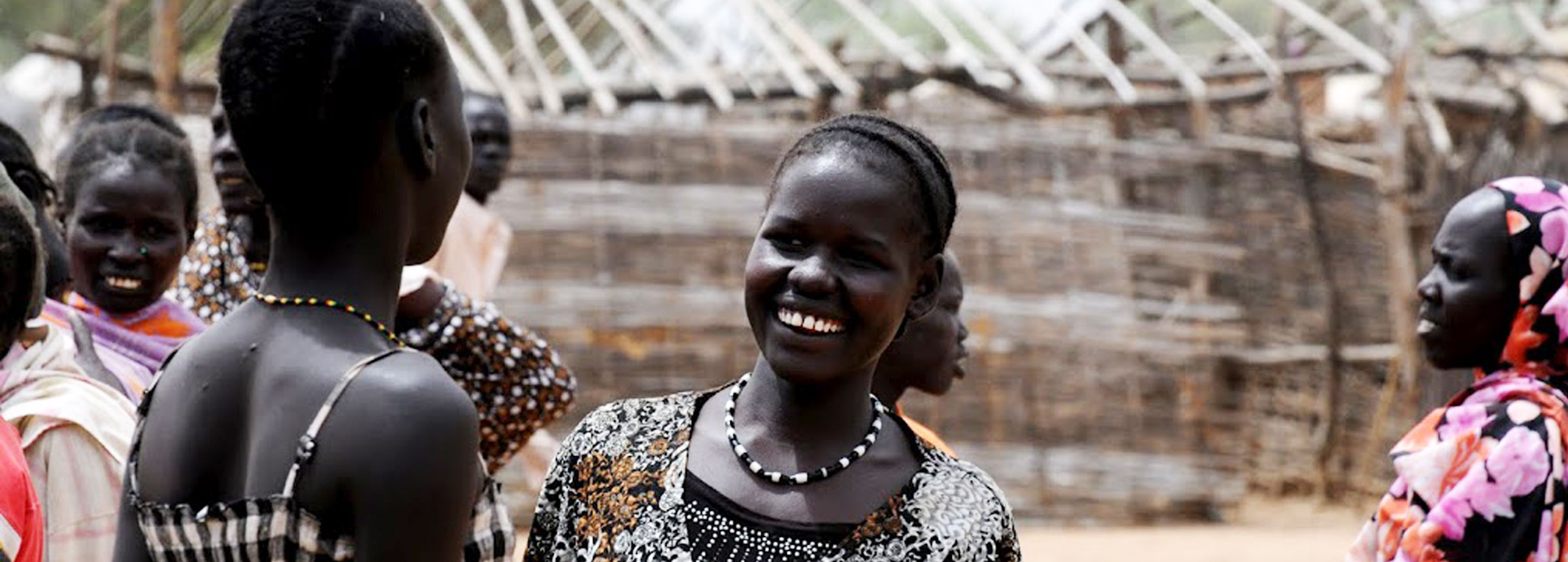 South Sudanese girl smiling