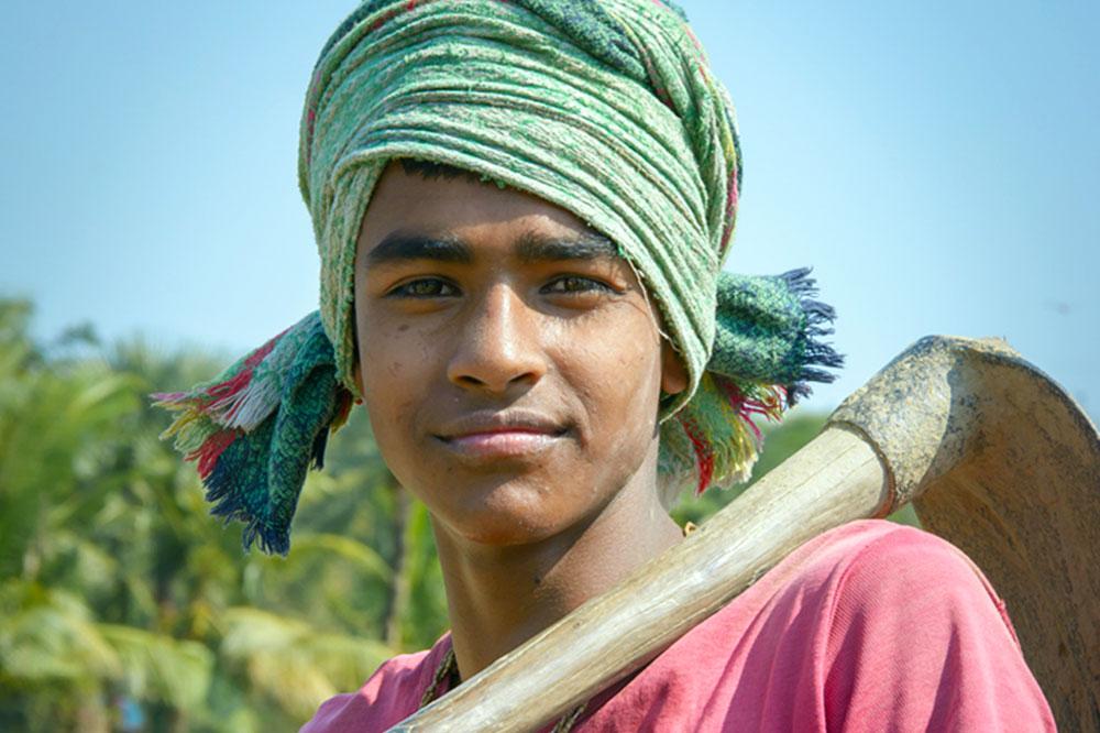 Young Bangladeshi boy