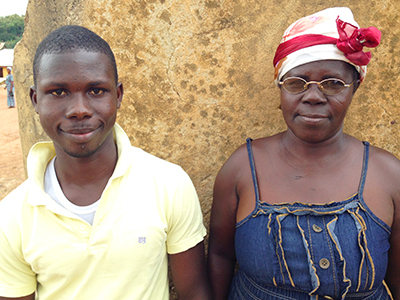 A mother and son in Ghana.