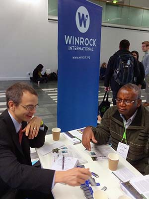 Robert O'Sullivan visits with Dr. Deuteronomy Kasara, Zambia Minister of Finance.