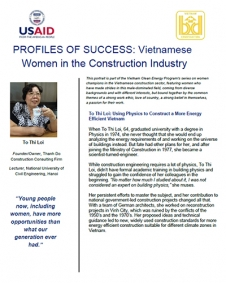 WOMEN LEADERS IN CONSTRUCTION: To Thi Loi