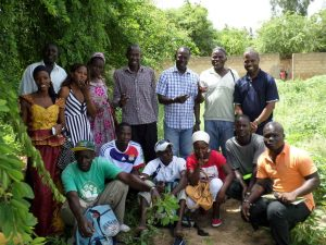 Trainers, teachers, and recent graduates of the Horticultural Initiation Center of St. Louis, Senegal