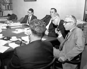 A/D/C Workshop, October 10-11, 1967 - Core Economics - Dr. Clifton Wharton, Jr. pictured (back left.)