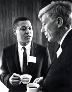 November 20-21, 1965 - A/D/C/AURP workshop - Dr. Clifton Wharton, Jr. (left.)