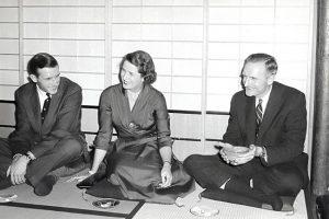 Jay Rockefeller, Blanchette Hooker Rockefeller, and John D. Rockefeller 3rd.