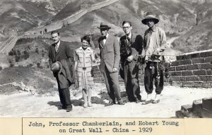 1929 - China - John D. Rockefeller 3rd, Professor Chamberlain, and Hobart Young.