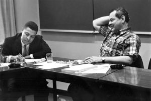 A/D/C Workshop, March 11-13, 1966 - Research Implications of Recent Developments in International Agricultural Policies and Arrangements - Dr. Clifton Wharton, Jr. (left.)