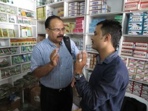 F2F volunteer Gurbinder Gill providing guidance to staff of an agribusiness in Nepal