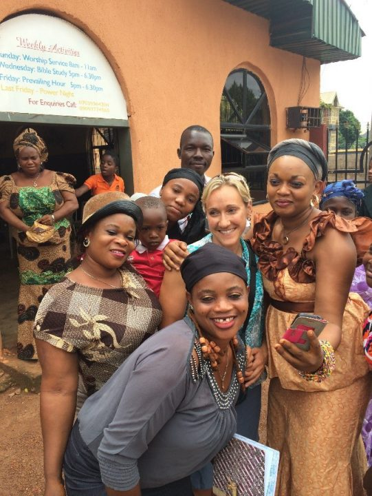 Justine Britten in Nigeria