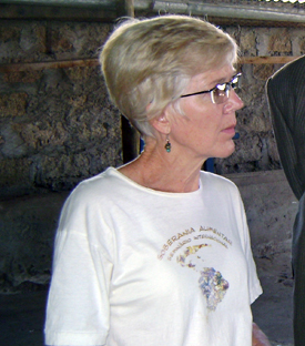 Kathy Colverson volunteered in Kenya to help make improvements to the poultry market.