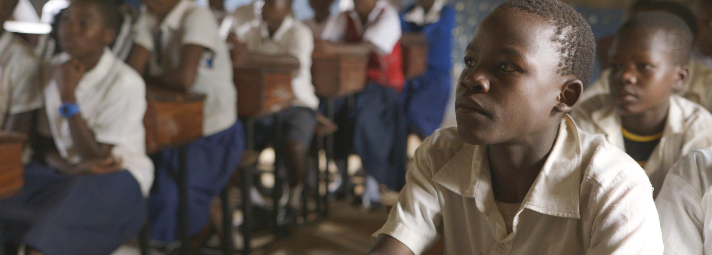 Tanzanian children in classroom