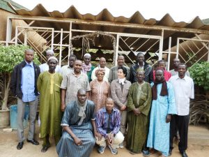with trainees in Senegal