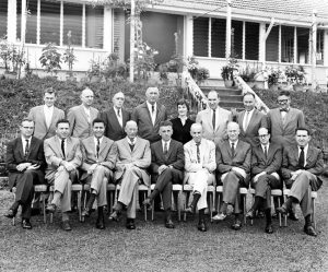 1961 - Penang, Malaysia - Staff conference.