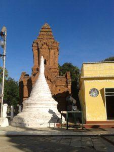 an unrestored pagoda