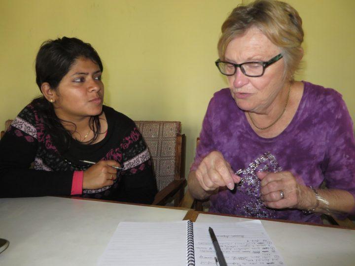 Mary Edwards in Nepal