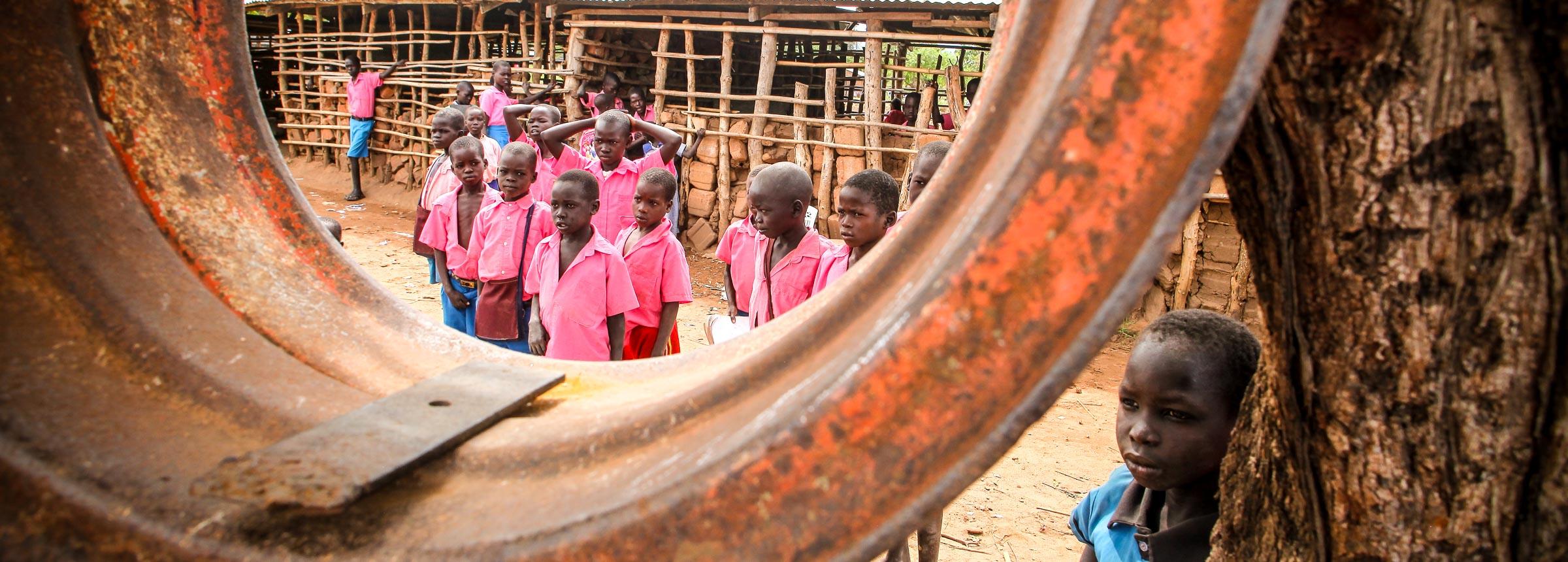 School kids in South Sudan