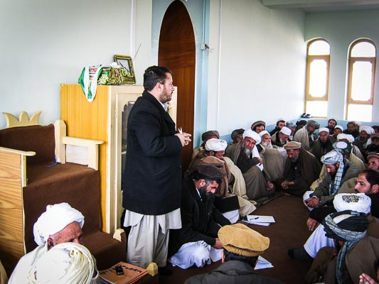 District Council Meeting - Mohammad Agha, Logar, Afghanistan 2010