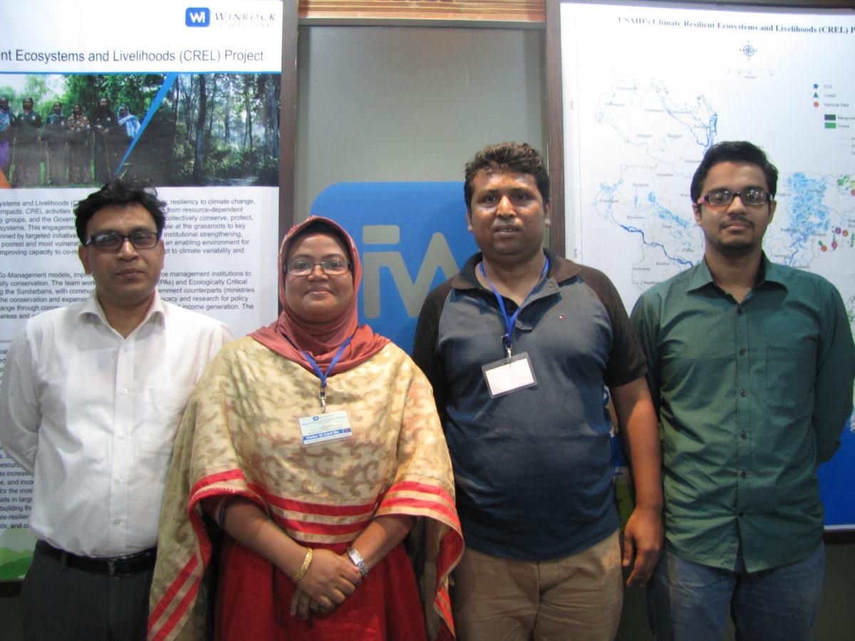 Wetland team on pre- inception workshop day on November 04, 2015 at CREL Dhaka office (From left side LPR-Advocate M. Hafijul Islam Khan, PR-Prof. Kaniz Fatema, PR- Mr. Monjurul Ahsan and RA-Mr. S.M. Saify Iqbal).