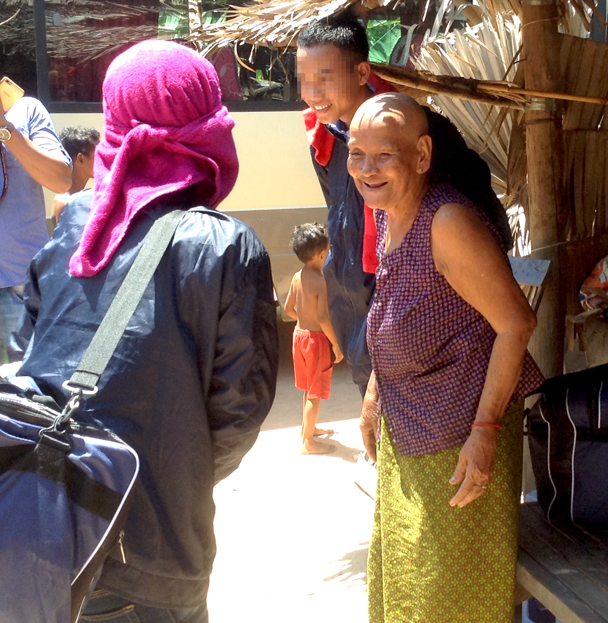 After months at sea, a trafficked fisherman is welcomed home by his grandmother and other family.