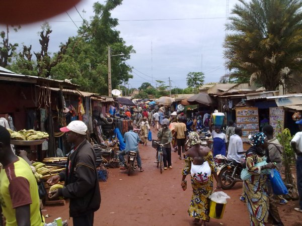 A market street in Mali