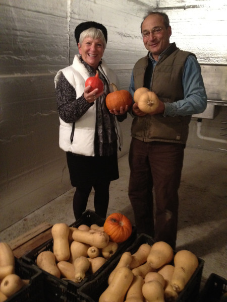 Demetria and Farmer-to-Farmer volunteer Howard Prussack kick-off the Thanksgiving holiday on Prussack's farm.