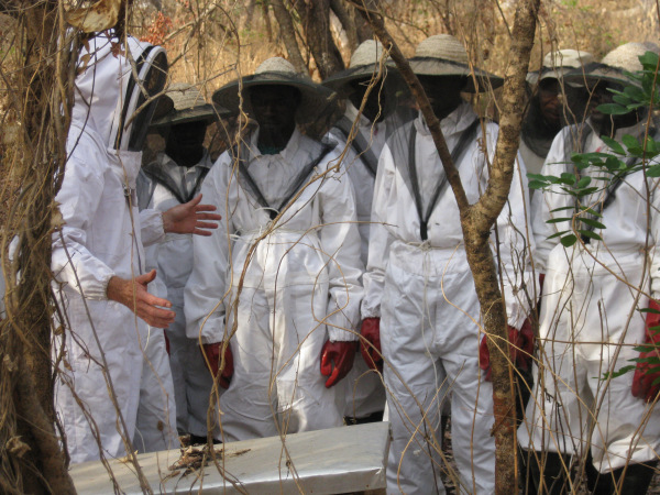 Doug Johnson training beekeepers in Nigeria