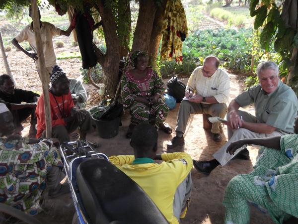 Scott (far right) provides training in Mali