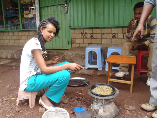 Making coffee, the traditional way