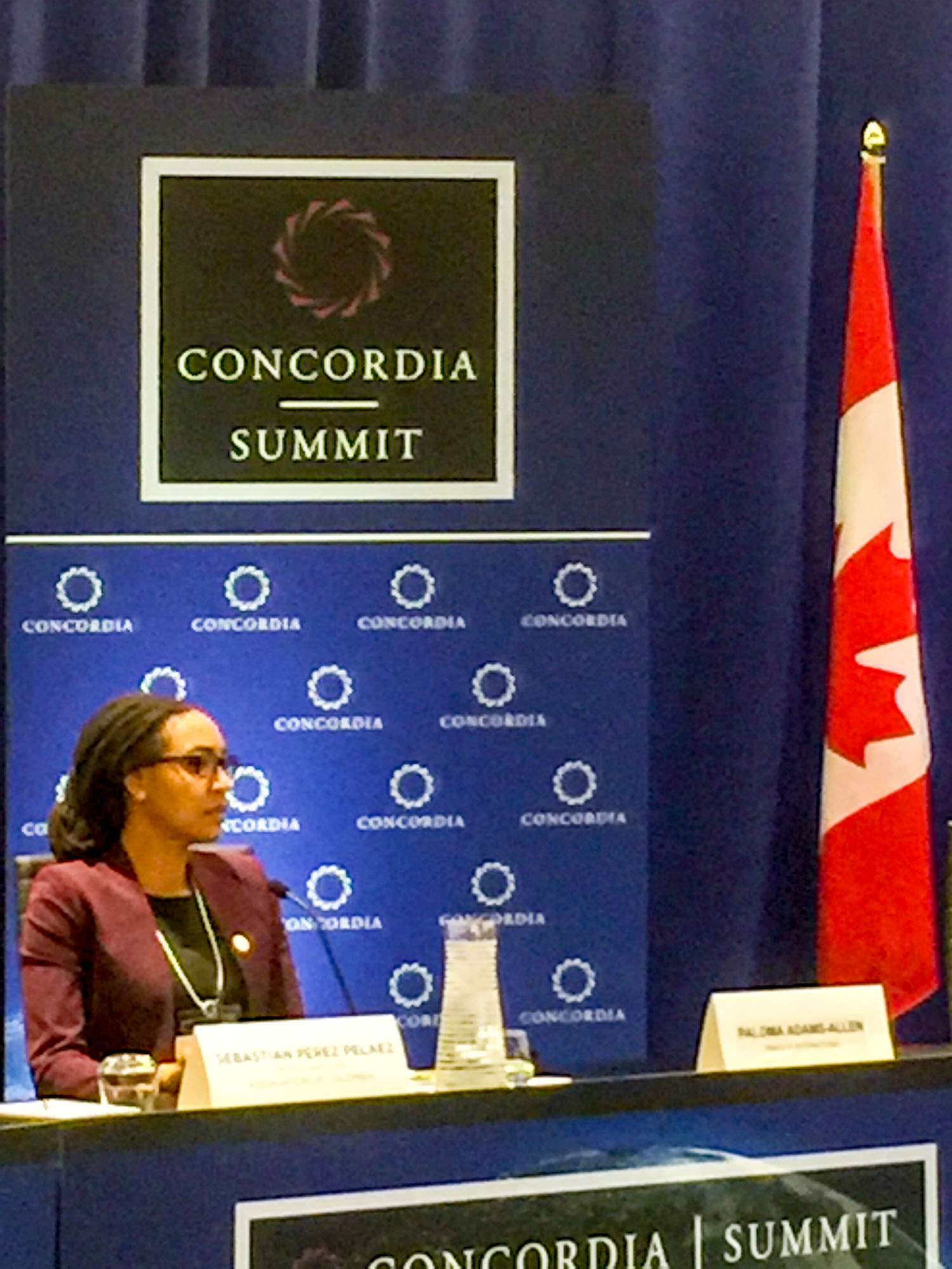 Instagram: Paloma Adams-Allen, senior director, private sector partnerships, discussed security and governance in Latin America with business leaders today at #Concordia16 @ConcordiaSummit