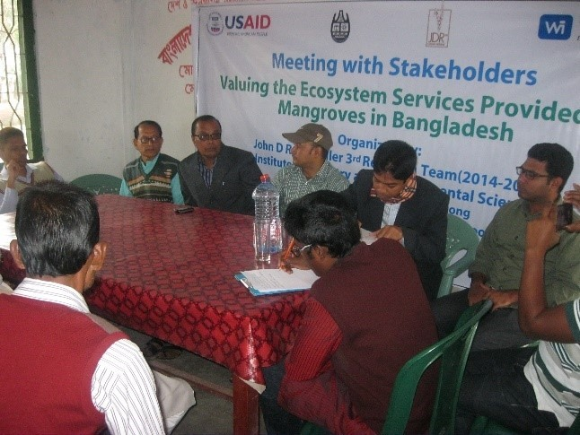 The CREL/JDR 3RD Mangrove team meeting with stakeholders at Upazilla level