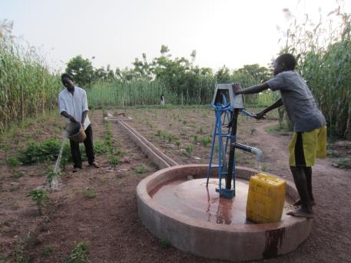 After: Mr. Zongo invested one third of the cost to upgrade his traditional well. The family now has water services to meet their domestic and productive needs.