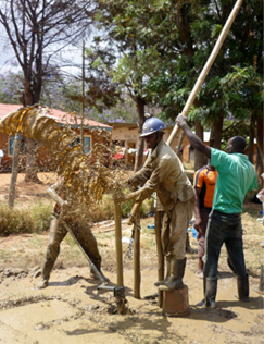 A Rota sludge team drilling a school borehole in Morogoro.