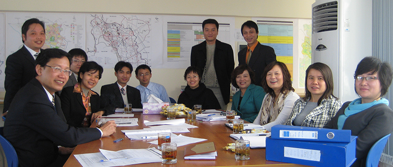 Ms. La and her colleagues at the Vietnam Institute for Urban and Rural Planning (VIUP).