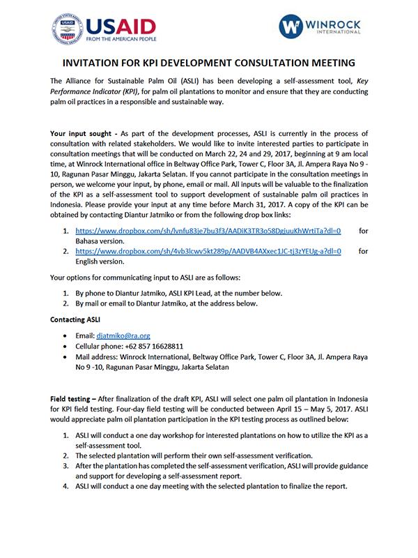Winrock international indonesia asliinvitation for kpi public consultation meetings stopboris Choice Image