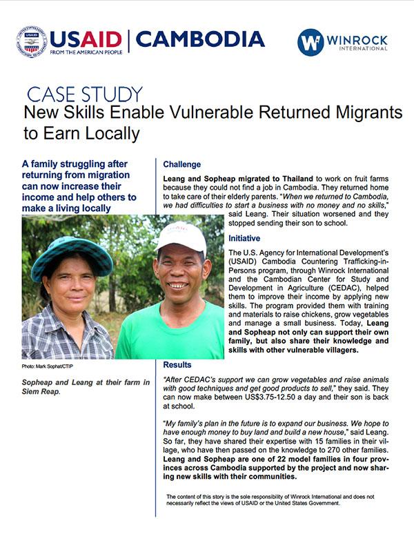 cambodia community project case study