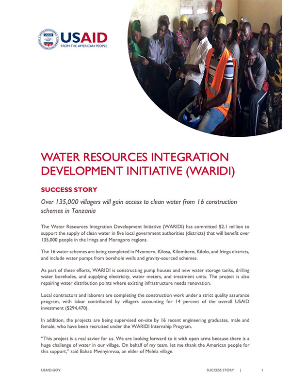 Winrock International » Success Story: Water Resources